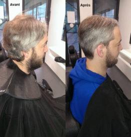 hairdo homme avant après